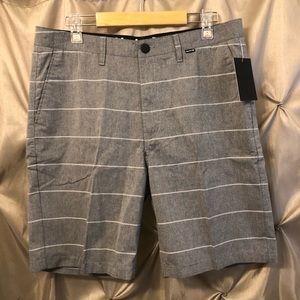 Hurley Davis Men's Shorts Gray Striped 32 NWT